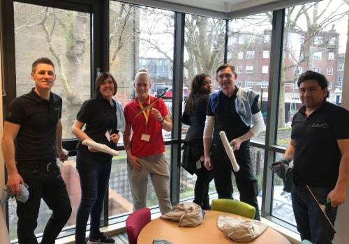 Window Clean at RMHC Evelina House